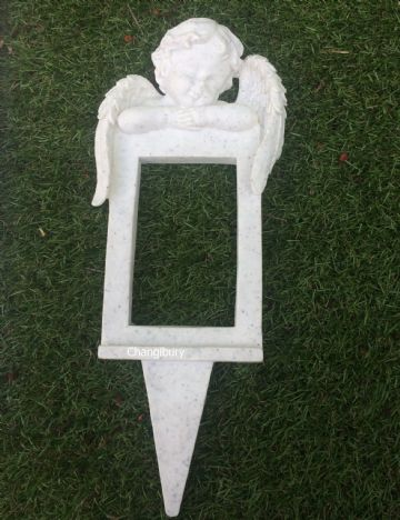 Reusable  CHERUB Graveside Memorial CARD FRAME HOLDER GSH03